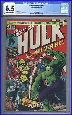 Incredible Hulk #181 CGC 6.5 Vol 1 Beautiful Upper Mid Grade 1st App Wolverine