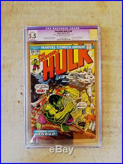 Incredible Hulk # 181 CGC 7.0White Pages 180 5.5 WithOW pages, 182 7.5 White pages