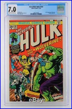 Incredible Hulk #181- CGC 7.0 FN/VF -Marvel 1974- 1st App of Wolverine