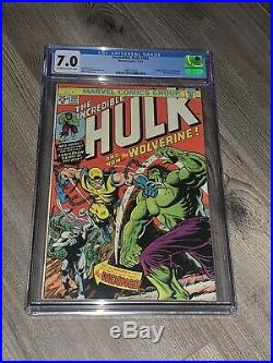 Incredible Hulk 181 CGC 7.0 OWithW 1st Appearance of Wolverine Marvel 1974 NICE