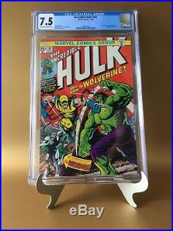 Incredible Hulk #181 CGC 7.5 KEY 1st Full App Wolverine/Newly Graded By CGC/Rare