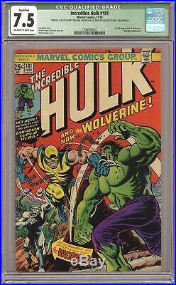 Incredible Hulk #181 CGC 7.5 QUALIFIED 1974 1396990001