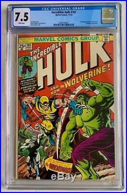 Incredible Hulk #181 CGC 7.5 WHITE (1974) 1st full app of Wolverine