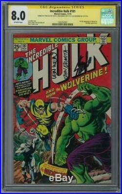 Incredible Hulk #181 CGC 8.0 (OW) Signed By Stan Lee John Romita Len Wein