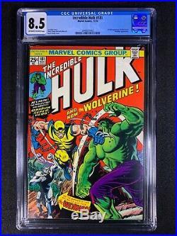 Incredible Hulk #181 CGC 8.5 (1974) 1st app of Wolverine Looks Like 9.0+