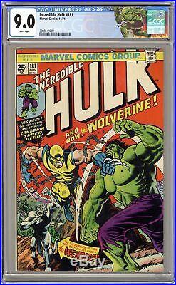 Incredible Hulk #181 CGC 9.0 1974 2098149001 1st app. Wolverine (full non-cameo)