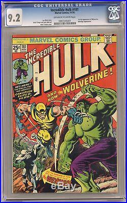 Incredible Hulk #181 CGC 9.2 1974 0997245001 1st app. Wolverine (full non-cameo)