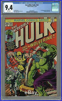 Incredible Hulk #181 CGC 9.4 1974 2066039001 1st app. Wolverine (full non-cameo)