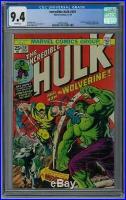 Incredible Hulk #181 CGC 9.4 (W) 1st full appearnce of Wolverine