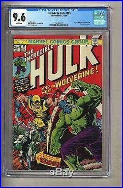Incredible Hulk 181 (CGC 9.6) White pgs 1st full app. Wolverine 1974 (c#26908)