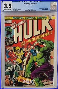 Incredible Hulk #181 Cgc 3.5 1st Wolverine