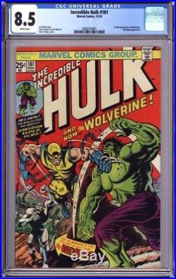 Incredible Hulk 181 Cgc 8.5 White Pgs 1st App Wolverine! Beautiful Centering