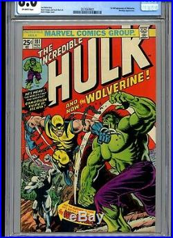 Incredible Hulk #181 Cgc Graded 8.0 1st Full Appearance Of Wolverine