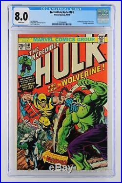 Incredible Hulk #181 Marvel 1974 CGC 8.0 1st App of Wolverine Wendigo App