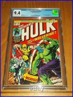 Incredible Hulk #181 Marvel Comics Cgc 9.4 Off White To White Pages (sa)