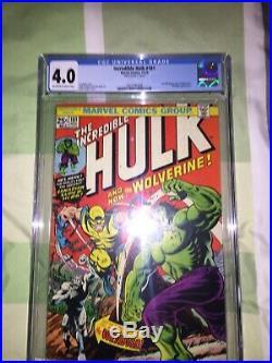 Incredible Hulk #181 US CGC 4.0 Marvel Comics- 1st full appearance Wolverine