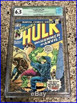 Incredible Hulk #182 CGC 6.5 RARE Mark Jewelers Insert Wolverine NO MVS 181