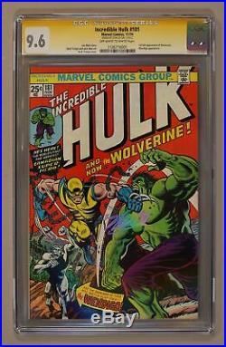 Incredible Hulk (1962-1999 1st Series) 181 CGC 9.6 SS Stan Lee 1126716001