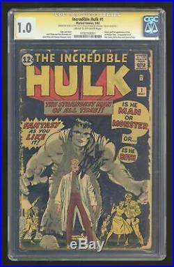 Incredible Hulk (1962-1999 1st Series) 1 CGC 1.0 SS Stan Lee 1192769001