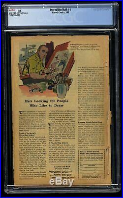 Incredible Hulk (1962) #1 CGC Fair 1.0 Slightly Brittle 1st Hulk