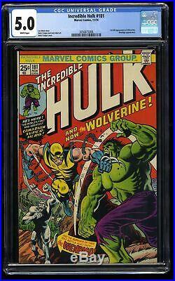 Incredible Hulk (1968) #181 CGC VG/FN 5.0 White Pages Marvel Comics
