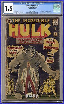 Incredible Hulk #1 CGC 1.5 1962 1295876001 1st app. And origin Hulk