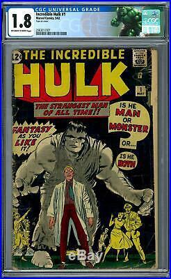Incredible Hulk #1 CGC 1.8 (OW-W) Origin & 1st Appearance of the Hulk