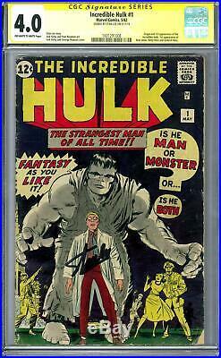 Incredible Hulk #1 CGC 4.0 Stan Lee Signature Series (OW-W) 1st Hulk ENDGAME