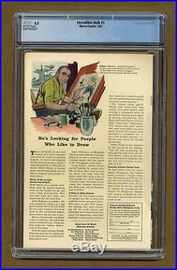 Incredible Hulk #1 CGC 5.5 1962 2007663001 1st app. And origin Hulk