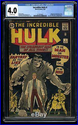 Incredible Hulk #1 CGC VG 4.0 Off White No Marvel Chipping