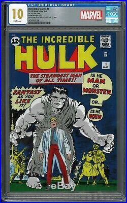 Incredible Hulk #1 Pure Silver Foil CGC 10 First Releases Marvel Comics Gem Mint