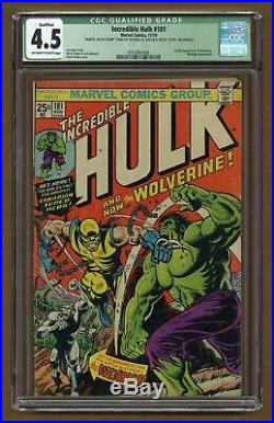 Incredible Hulk (1st Series) #181 1974 CGC 4.5 QUALIFIED 0353092006