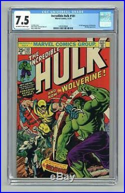 Incredible Hulk (1st Series) #181 1974 CGC 7.5 1497659004
