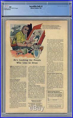Incredible Hulk (1st Series) #2 1962 CGC 5.0 1497696002