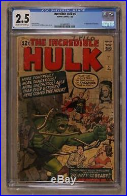 Incredible Hulk (1st Series) #5 1963 CGC 2.5 1616497002