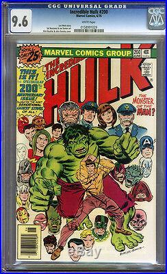 Incredible Hulk #200 CGC 9.6 NM+ WHITE Pages Universal CGC #0158991029
