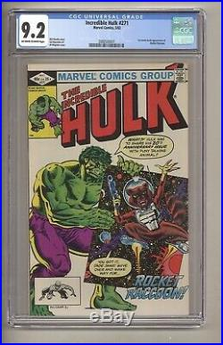 Incredible Hulk 271 (CGC 9.2) OWithW pages 1st full app. Rocket Raccoon (c#27632)