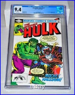 Incredible Hulk 271 CGC 9.4 White Pages 1st Rocket Raccoon 1985