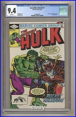 Incredible Hulk 271 (CGC 9.4) White Pages 1st comic app Rocket Raccoon! J# 240