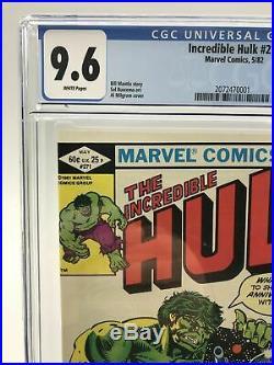 Incredible Hulk #271 CGC 9.6 WP 1st Appearance of Rocket Raccoon