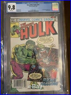Incredible Hulk #271 CGC 9.8 First Appearance Rocket Raccoon Newsstand Variant