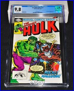 Incredible Hulk 271 CGC 9.8 White Pages 1982 1st Rocket Raccoon GOTG