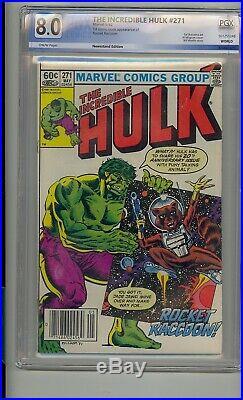 Incredible Hulk #271 Pgx 8.0 1st Rocket Raccoon Marvel Not Cgc Newsstand Variant