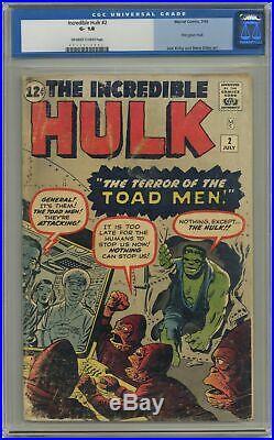 Incredible Hulk #2 CGC 1.8 1962 0067819003 1st app. Green Hulk