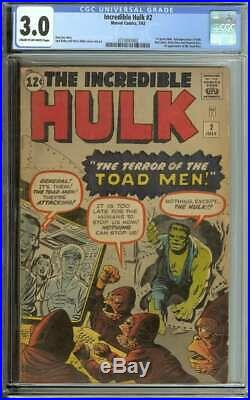 Incredible Hulk #2 Cgc 3.0 Cr/ow Pages