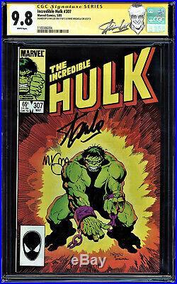 Incredible Hulk #307 Cgc 9.8 Ss 2x's Stan Lee And Mike Mignola Cgc #1183386004