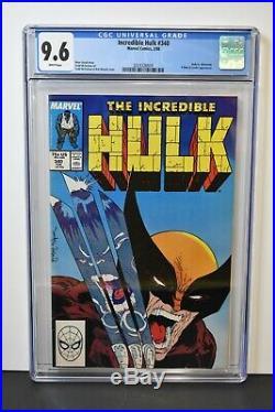 Incredible Hulk #340 (1988) CGC Graded 9.6 Hulk vs. Wolverine Todd McFarlane