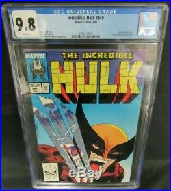 Incredible Hulk #340 (1988) Classic McFarlane Wolverine Cover CGC 9.8 D502