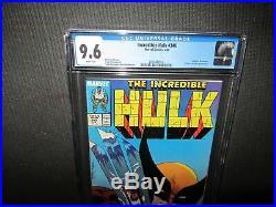 Incredible Hulk 340 CGC 9.6 NM+, classic McFarlane Wolverine cover -1988- (MC)