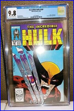 Incredible Hulk #340 CGC 9.8 Hulk vs Wolverine McFarlane New OWW